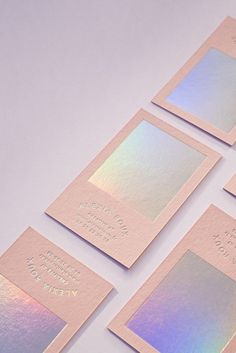 Holographic pink Business card design