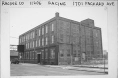 The old Gold Metal Camp Furniture Manufacturing Company Built in 1894 at 1700 Packard Avenue Racine Wisconsin. It's also known as Gold Metal, INC.