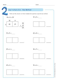 box-multiplication-partial-products-method2-digit-by-1-digit-worksheet