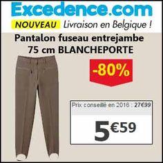 #missbonreduction; 80 % de réduction sur le Pantalon fuseau entrejambe 75 cm BLANCHEPORTE chez Excedence.http://www.miss-bon-reduction.fr//details-bon-reduction-Excedence-i246-c1837349.html