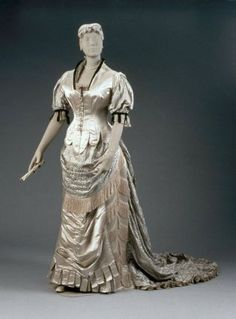 Woman's dress in two parts  French, 1880–85  Designed by Charles Frederick Worth, English (active in France), about 1825–1895  Designed for House of Worth,  Paris, France