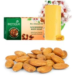 Almond oil is rich Vitamins A, D and E with high protein content that makes it a popular ingredient to cure and nurture skin. Almond oil is known to treat skin inflammation, reduce dark circles and remove impurities from the skin. Have a pampering bath with Bio #Almond oil soap that helps wash away body impurities, without disturbing the skin's natural pH balance.