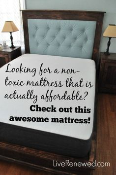 Do you feel like finding a non-toxic mattress that is also affordable is next to impossible? We did too, until we came across this great company that makes an awesome non-toxic mattress, that is similar in price to a conventional mattress! Check it out on 5 Ways to Green Your Bedroom at LiveRenewed.com