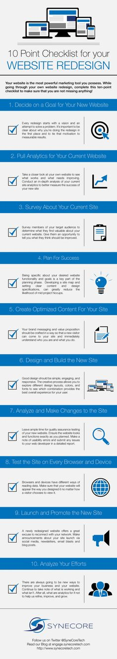 10 Point Checklist for Your #WebsiteRedesign