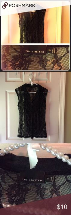 The Limited lace black capped sleeve top Can be lacy or racy, whichever you prefer The Limited Tops Blouses