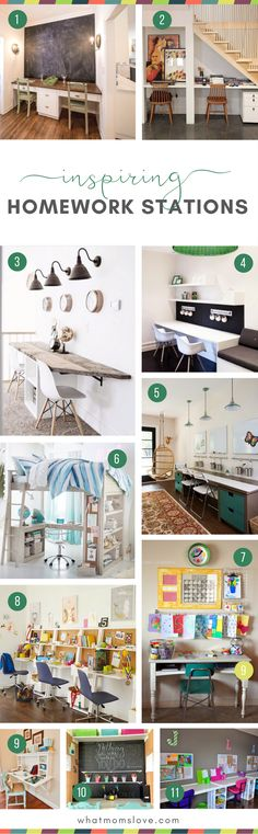 New Homeschool Organization for Small Spaces DIY Homework Station Ideas . School Organization For Teens, Desk Organization Diy, Diy Desk, Organization Station, Teen Study Areas, Study Space, Homework Station Diy, Homework Ideas, Kids Homework