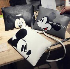 New Women Girl Mickey Mouse Handbag Shoulder Bag Purse Tote Messenger Hobo Bag in Clothing, Shoes & Accessories, Women's Handbags & Bags, Handbags & Purses Chat Hello Kitty, Disney Purse, New Handbags, Fashion Handbags, Leather Handbags, Disney Mickey Mouse, Minnie Mouse, Disney Style, Hobo Bag