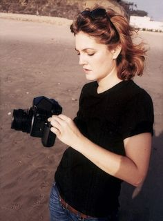 Drew Barrymore, pisces, enjoys being creative with photography