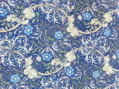Vintage wallpaper--William Morris-style.