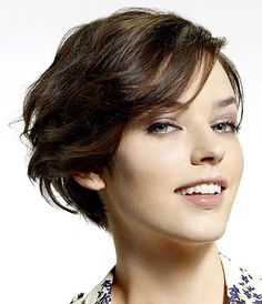 Top Thick Brown Hairstyle with Pixie Cut