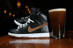 St. Patricks Day #Guinness edition Nike SB Dunk High