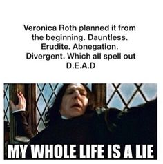 NOOOOOO <<< yes but what about amity>>> us Candors exist to!<<<<<< Dauntless, Erudite and Abnegation were the factions that Tris got in the Aptitude test. Its not just missing Amity and Candor. Divergent Memes, Divergent Hunger Games, Divergent Fandom, Divergent Trilogy, Divergent Insurgent Allegiant, Insurgent Quotes, Divergent Dauntless, Tfios, Tris E Quatro
