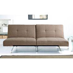 ABBYSON LIVING Aspen Coffee Fabric Foldable Futon Sleeper Sofa Bed - Overstock™ Shopping - Great Deals on Abbyson Living Futons
