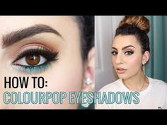 You have asked and I have delivered! Here's my Colourpop Eyeshadow Tutorial. After a few of my Colourpop videos, you guys asked me how to use the ColourPop E. Colourpop Blush, Colourpop Eyeshadow, Smokey Eyeshadow, Eye Makeup Art, Eye Makeup Tips, Makeup Videos, Colour Pop Makeup, Blue Makeup, Black Makeup Looks