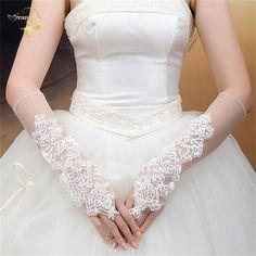 送料無料新しい高級lvoryレースプリンセスブライダルグローブファッション女性の長いデザインのウェディングドレス手袋ホット販売g012