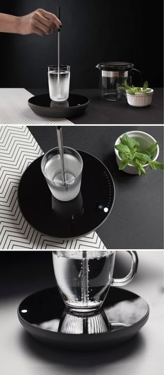 MIITO can heat any liquid, directly in its container. Simply place your cup on the induction plate and immerse the rod into the liquid.