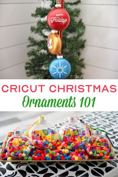 Deck the halls with DIY Cricut Christmas Tree Ornaments! There are so many ways to personalize your tree with homemade ornaments to suit your decor, theme, and interests. We've got the Cricut hacks to make them easily and beautifully! #cricut #diecutting #cricutmade #cricutprojects #cricutmaker #cricutexplore #christmas Diy Projects For Teens, Diy For Teens, Crafts For Teens, Craft Projects, Vinyl Projects, Painted Ornaments, Felt Ornaments, Christmas Tree Ornaments, Christmas Decorations