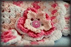 Pink Granny Square Baby Blanket, avaliable for £35 on https://www.etsy.com/listing/130518266/pink-granny-square-baby-blanket