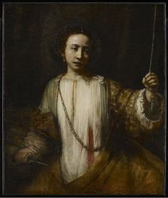 """""""Rembrandt van Rijn (NL 1606-1669) """"The suicide of Lucretia"""" 1666 Minneapolis Institute of Arts Now shown in """"Late Rembrandt"""" in the RijksMuseum Amsterdam until May 17 2015. """""""