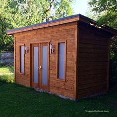 Contemporary Urban Studio Shed in North York, Ontario Pool Shed, Backyard Sheds, Outdoor Storage Sheds, Shed Storage, Small Storage, Backyard Storage, Studio Shed, Backyard Studio, Backyard Office