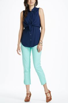 Sateen Charlie Trousers - Anthropologie.com
