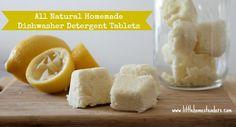 Homemade Dishwasher Detergent Tablets