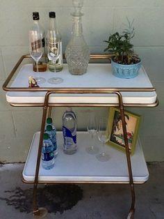 Vintage Refurbished Bar Cart $90 - Burbank http://furnishly.com/vintage-refurbished-bar-cart.html