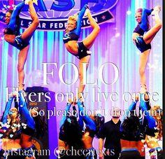cheerstunt Cheer Sayings, Cheer Quotes, Cheerleading Cheers, Cheer Stunts, Fangirl, Awesome, Fun, Life, Fan Girl