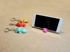 Cute key chain phone holder
