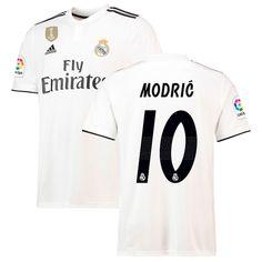 dc5219057 Luka Modric Real Madrid adidas 2018 19 Home Replica Player Jersey – White