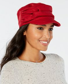 ee4630e64c1 Shop Nine West Twisted Newsboy Cap online at Macys.com. Nine West s workers  cap is fashioned with puffy link detail for a look that s cute with a twist.