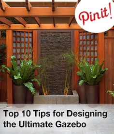 Top 10 tips for designing the ultimate gazebo. (home improvement, home decor)