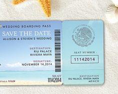 Passport Destination Wedding Invitation & by silentlyscreaming