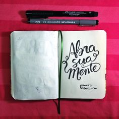 Rabiscos @marinaviabone #lettering #calligraphy #quotes