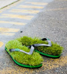 Australian footwear company KUSA makes creative sandals for people who love the feeling of walking barefoot on freshly mowed grass.