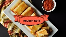 Ready IN: 30mins Egg Roll Wraps, Swiss Cheese, Large Egg, Egg Rolls, Sauerkraut, Deli, Hot Dog Buns, Bread, Ethnic Recipes