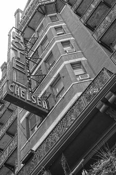Chelsea Nyc, Chelsea Hotel, Black And White Photo Wall, Black And White Pictures, New York Photography, Street Photography, Manhattan Hotels, New York City Apartment, Professional Photo Lab