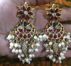 Silver Guttapusalu with Heavy Earrings
