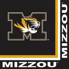 Missouri Mizzou Tigers Lunch and Dinner Paper Napkins 20-count $4.00