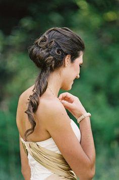 Wedding day hair: http://www.stylemepretty.com/destination-weddings/2014/01/21/rustic-park-city-wedding-at-canyons-resort/   Photography: Chudleigh - http://www.chudleighweddings.com/
