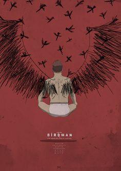 Birdman by Mattia Iacono Minimal Movie Posters, Cinema Posters, Film Posters, 7 Arts, Cult, Alternative Movie Posters, Beautiful Posters, Movie Poster Art, Film Books