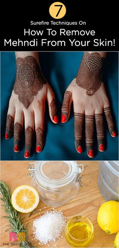How to Remove Henna Tattoo Ink | Tattoo ink and Hennas