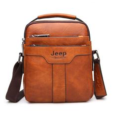 New Casual Solid Large Capacity Business Crossbody Shoulder Bag for Men Crossbody Shoulder Bag, Shoulder Handbags, Leather Crossbody, Leather Shoulder Bag, Crossbody Bag, Shoulder Bags, Handbags For Men, Leather Handbags, Messenger Bag Men