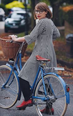 Cycle style: #trench coat, #bike, #style. RockiNoggins