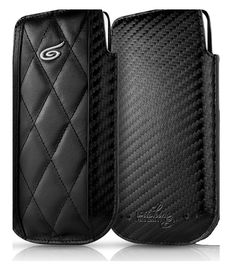 Itskins Enzo Carbon Leather Pouch Case for Apple iPhone 5 - Black £24.95