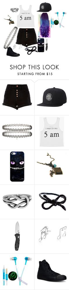 """""""based on my story on wattpad"""" by allie-peay ❤ liked on Polyvore featuring River Island, Converse, Miss Selfridge, Casetify, Workhorse, Areaware, Bling Jewelry and Universal"""