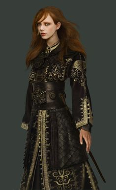 Awesome armor - reminds me of Elizabeth's Pirate Queen outfit from Pirates of the Caribbean
