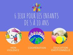 Des exemples de jeux pour favoriser la non violence et la coopération dans un groupe d'enfants de 5 à 10 ans Positive Attitude, Team Building, About Me Blog, Positivity, Activities, Collaboration, New York, Yoga, Activities For Kids