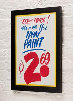 Honest Ed's Sign Custom Frame