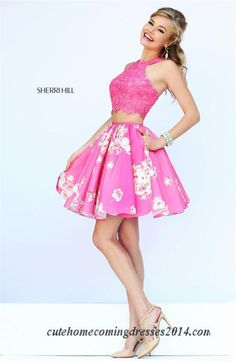 Applique Two Piece Sherri Hill 32245 Winter Formal Dresses